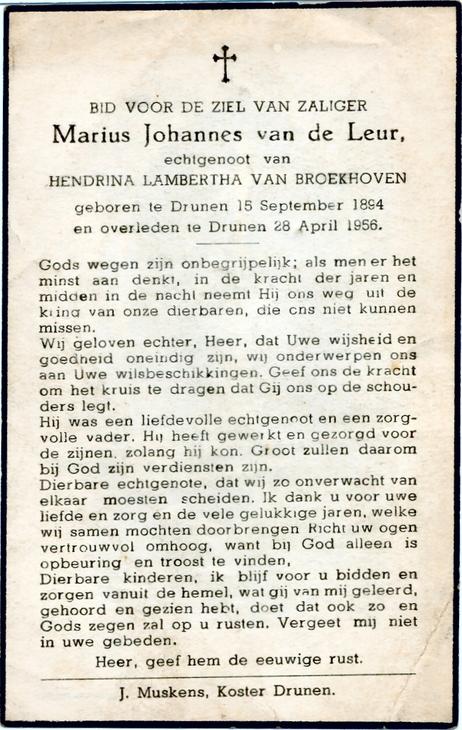 Bidprentje van Bidprentjes van Antoon Gloudemans - met bijna 3 duizend scans uit de bidprentjesverzameling van W.G.M. van de Ven