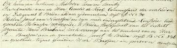 16 mei 1826  Notariele akte pagina 1 (Petrus Johannes Baesjou)