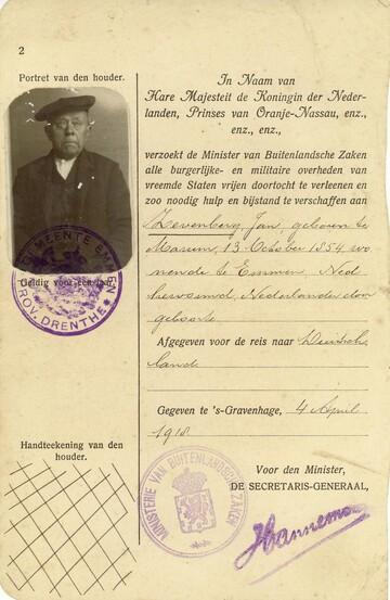 Paspoort Jan Zevenberg
