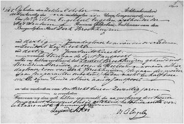 Overlijden 06-10-1828 (Lambertus Lamert Broekhuijsen)