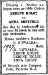 19270410 HOLST BRETVELD JUBILEUM (Berent Holst)