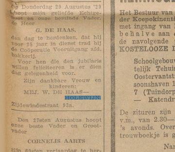Holewijn de Haas Jubileum 19290824 (Gerard de Haas)