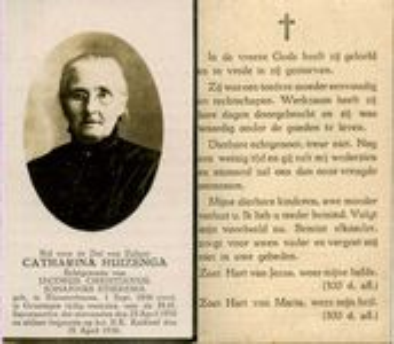 Afbeelding bij Catharina(Trijntje) Huizinga