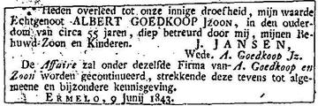 Afbeelding bij Albert Jans Goedkoop
