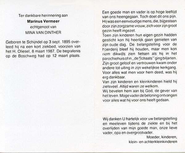 La carte in memoriam de Bidprentjesverzameling W.G.M. van de Ven - met ruim 8 duizend scans dans la collection de ces cartes de W.G.M. van de Ven
