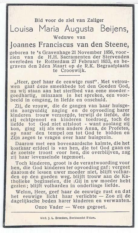 Mortuary cards for Bidprentjes Van den Berg - met ruim 56 duizend scans from the mortuary cards collection of J.P.P. van den Berg