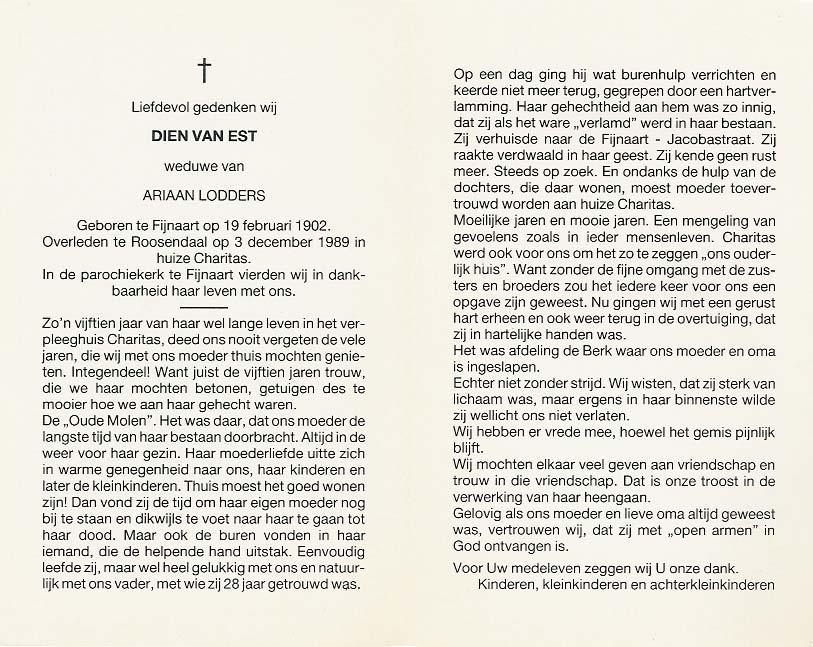 Bidprentje van Bidprentjes Van den Berg - met ruim 55 duizend scans uit de bidprentjesverzameling van J.P.P. van den Berg