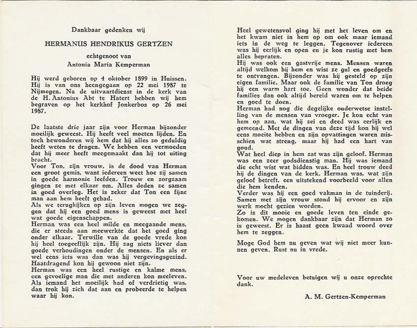 La carte in memoriam de Bidprentjes Van den Berg - met ruim 53 duizend scans dans la collection de ces cartes de J.P.P. van den Berg