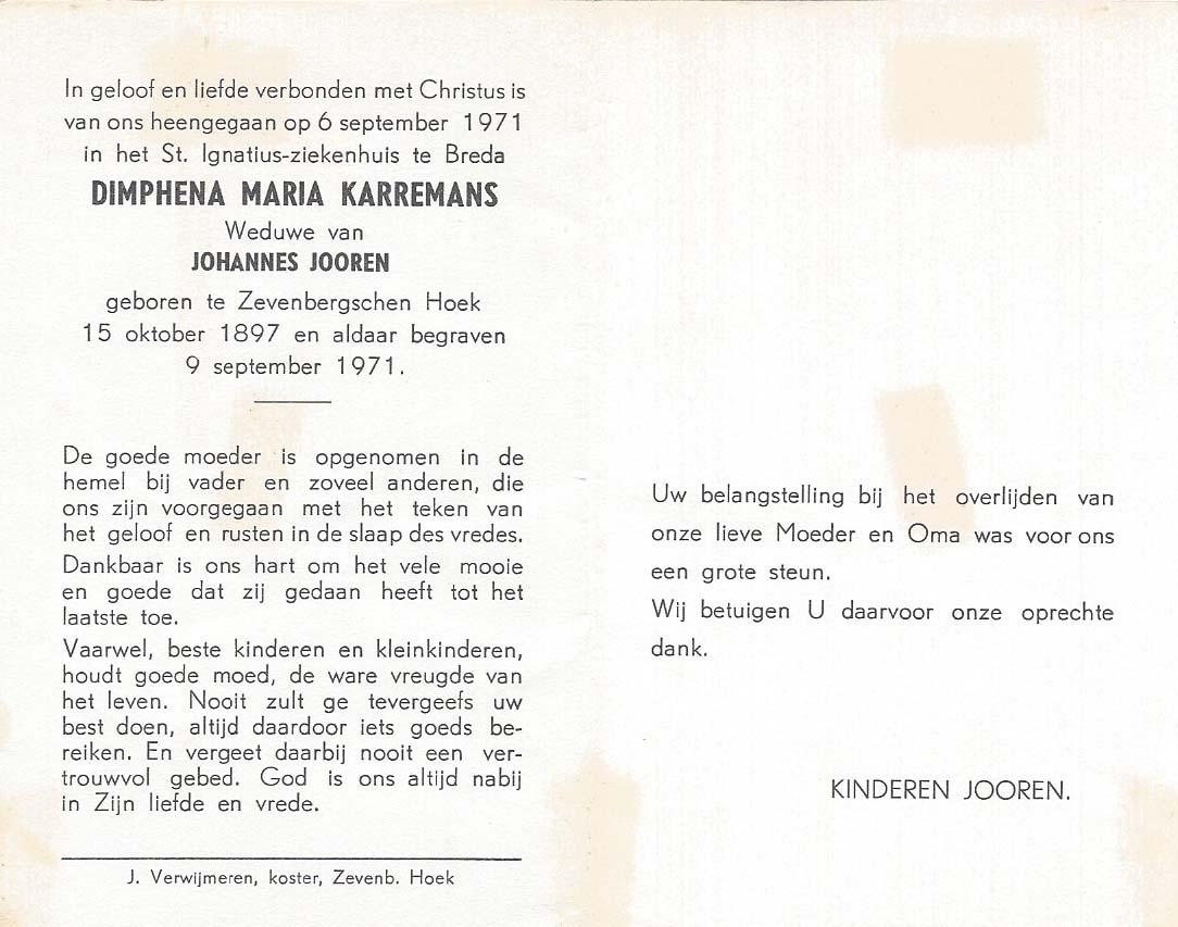 Bidprentje van Bidprentjes Van den Berg - met 60.219 scans uit de bidprentjesverzameling van J.P.P. van den Berg