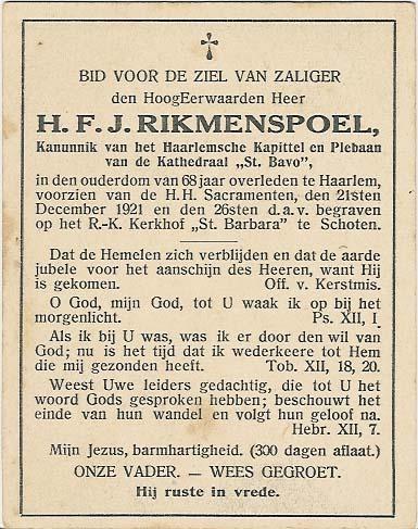 Bidprentje van Bidprentjes Van den Berg - met ruim 51 duizend scans uit de bidprentjesverzameling van J.P.P. van den Berg