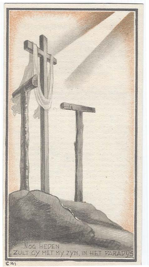 Totenbildchen von Bidprentjes Van den Berg - met ruim 52 duizend scans aus der Totenbildchensammlung von J.P.P. van den Berg