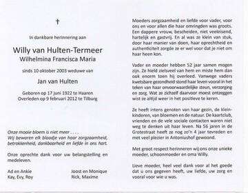Wilhelmina Francisca Maria Termeer