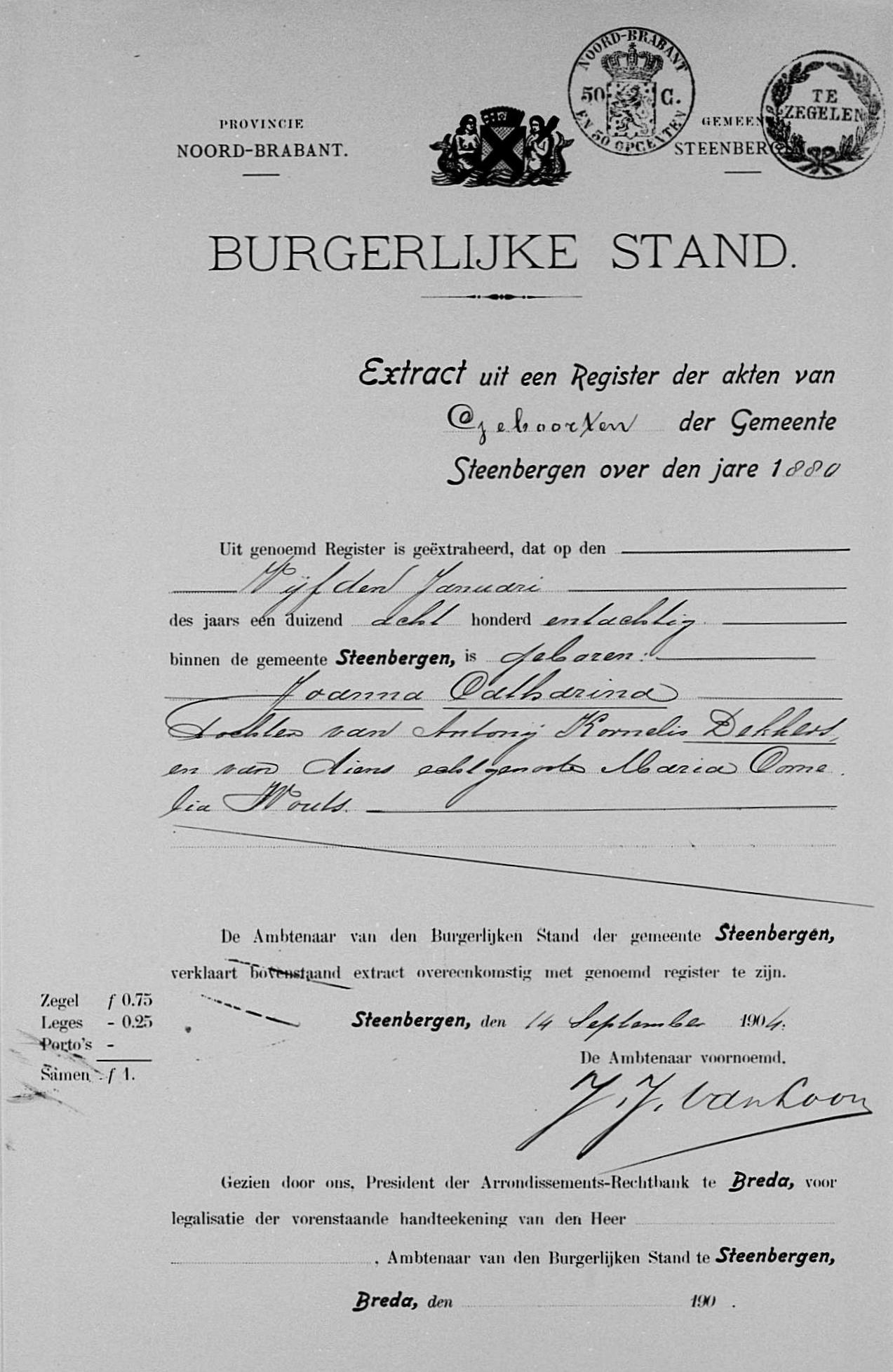 Joanna Catharina [Jansje) Dekkers (1880-1969) » Genealogie Vermeulen ...