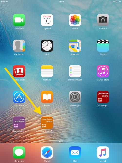Stamboom Forum op iPad/iPhone 4